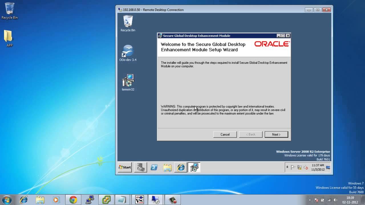 Oracle Secure Global Desktop - portablecontacts net