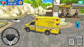 Miami Dade Ambulance Van Driving-Coast Guard Beach Rescue Team-Android 게임 플레이