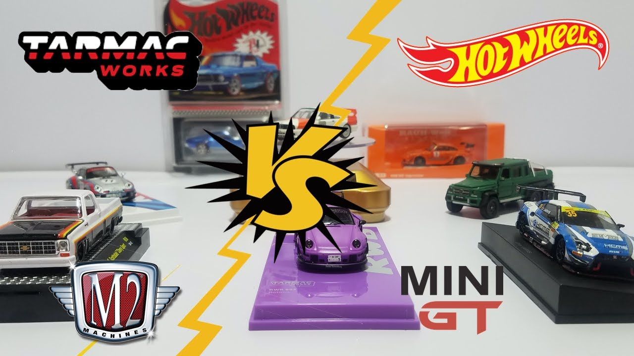 HOT WHEELS VS TARMAC VS MINI GT LIBERANDO DE TODAS LAS MARCAS