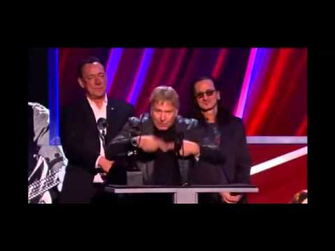 Alex Lifeson RUSH Rock & Roll Hall of Fame Acceptance Speech