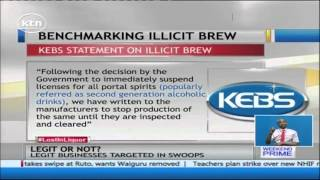 A total of 385 brands of alcohol suspended by Kenya Bureau of Standards