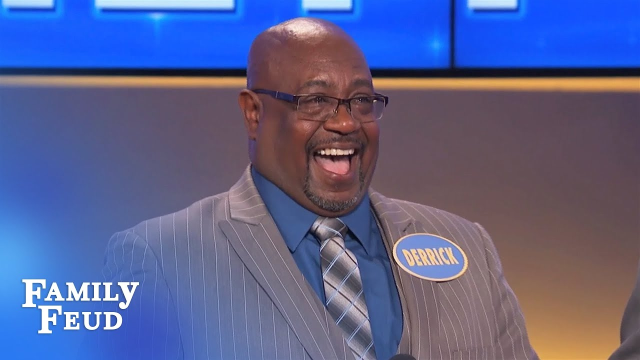 HYSTERICAL CLIP! Derrick gets SHEEP-ISH | Family Feud