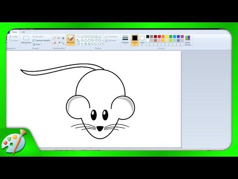 Dibujos Para Niños Cómo Dibujar Un Ratoncito Con Paint Youtube