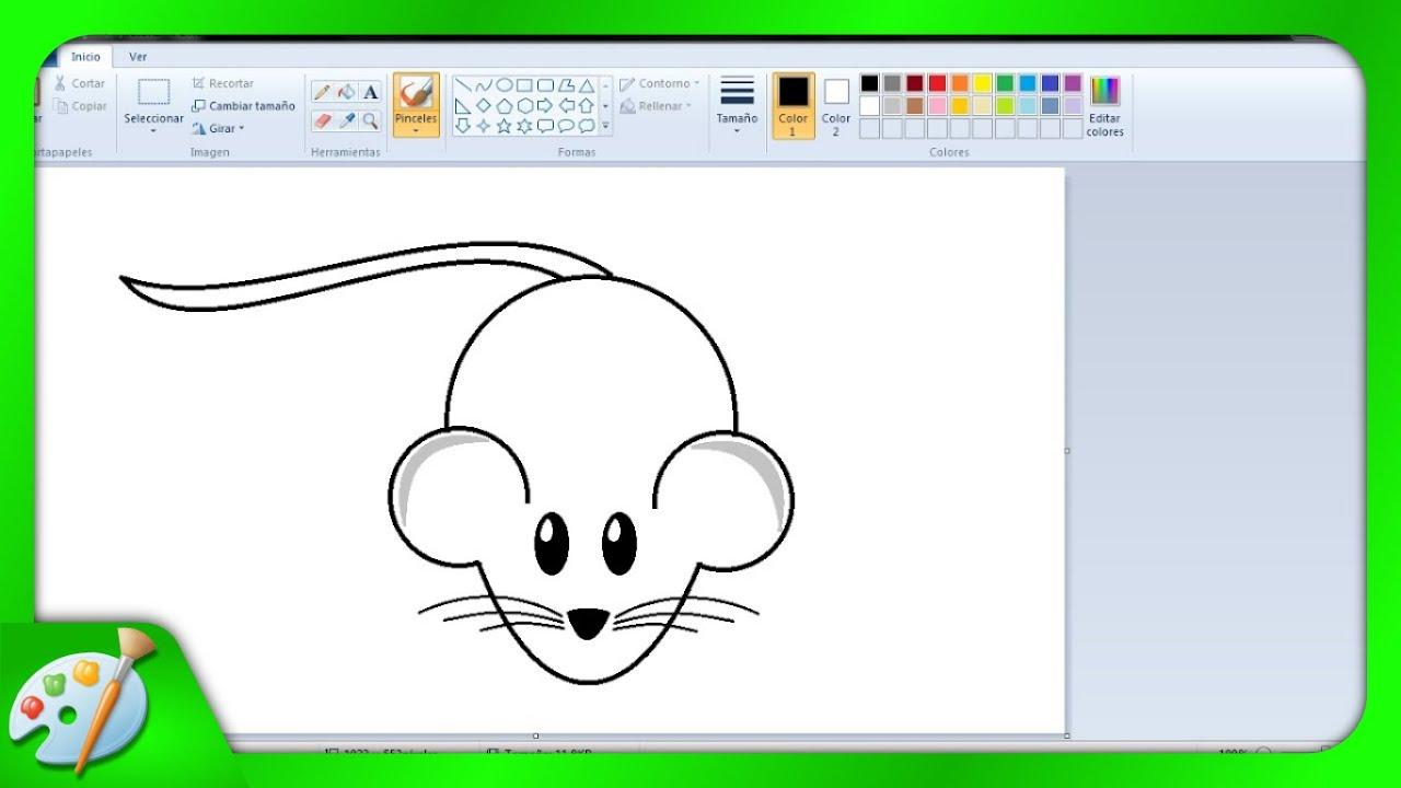Dibujos Para Niños: Cómo Dibujar Un Ratoncito Con Paint