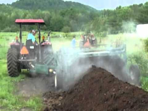 Composting on Howmars Organic Dairy Farm