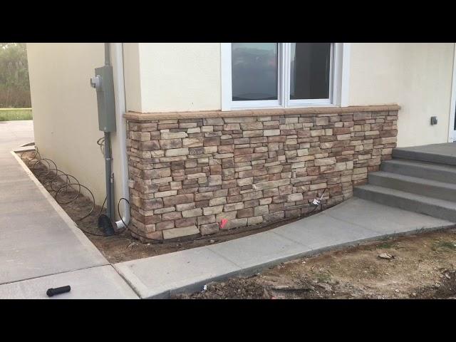 Installing stone in Cocoa Florida