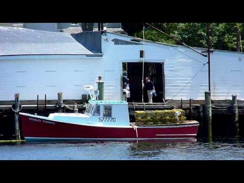 Lobster Boat Stanley Thomas ties up at Captain Joe's Gloucester, Ma
