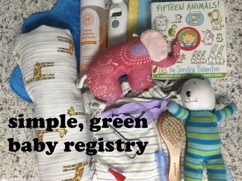 Minimalist, Eco-Friendly Baby Registry