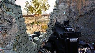 GROUND WAR in Modern Warfare (10 vs 10 MP7 Headquarters Gameplay)