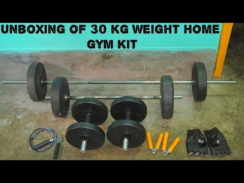 Unboxing Of Protoner 30KG Combo Of 5ft Rod,3ft Rod,2 D.Rods Home Gym Set And Fitness Kit