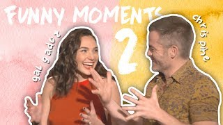 Gal Gadot & Chris Pine's Friendship! CUTE & FUNNY MOMENTS! Part 2
