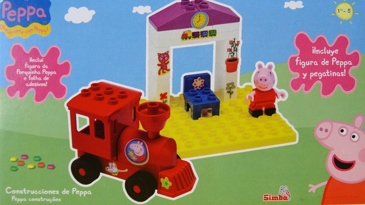 Peppa Pig Train station from Peppa Pig Building Blocks Games  YouTube