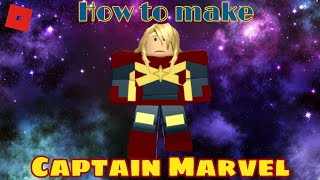 How to make Captain Marvel in Roblox Superhero life 2