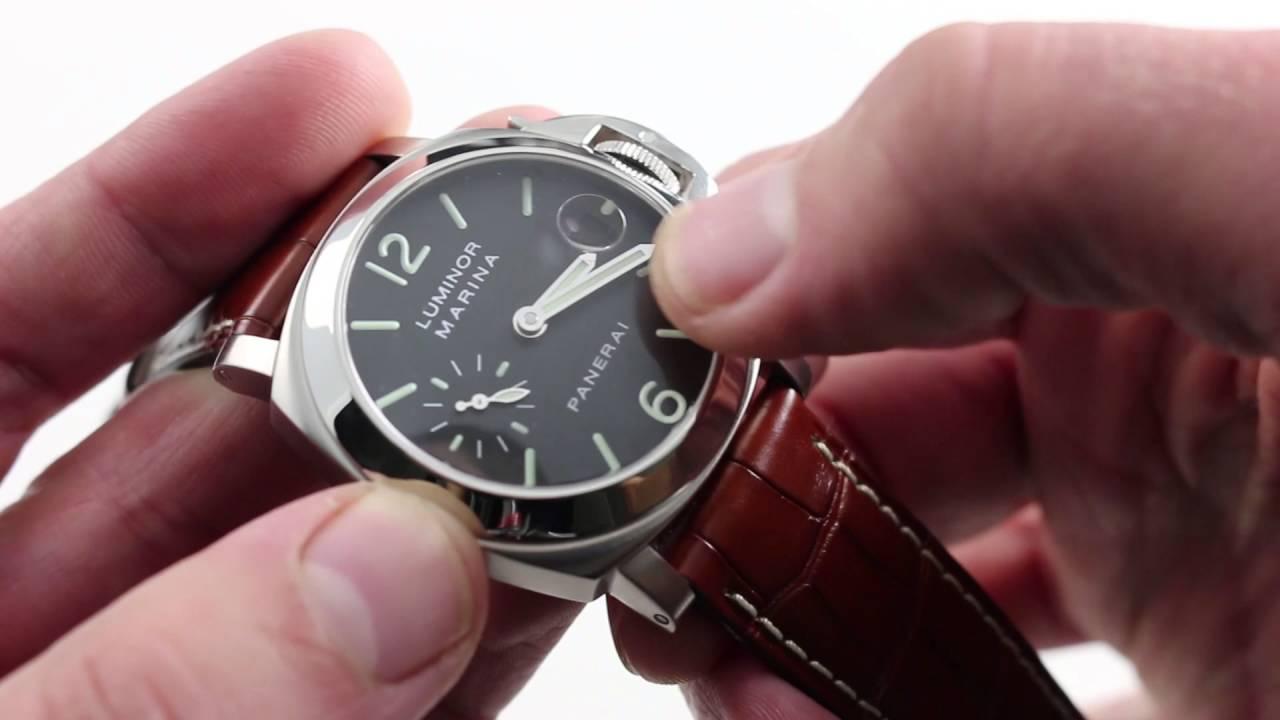Pre Owned Panerai Luminor Marina Pam 48 Luxury Watch Review Youtube