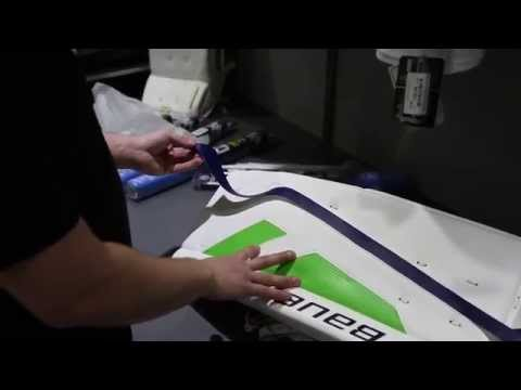 How To Apply Padskinz To Your Goal Leg Pads By The Hockey Shop