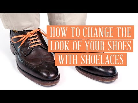 573e33917a77 How to Change the Look of Your Shoes with Shoelaces - Gentleman's Gazette -  Fort Belvedere - YouTube