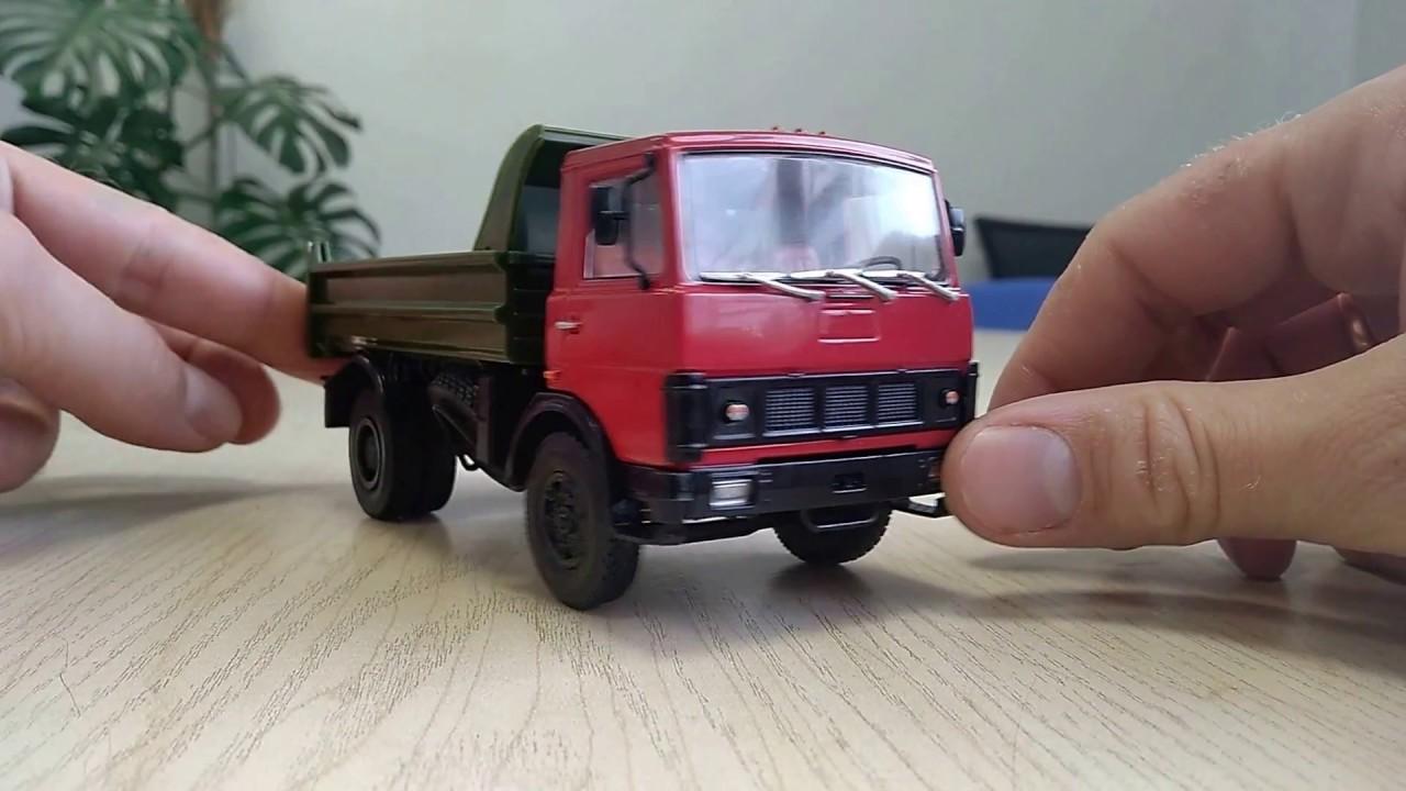 Грузовик МАЗ 5551 подъем кузова - YouTube