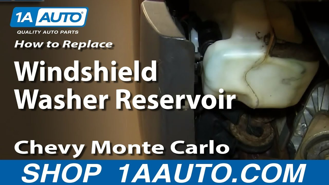 how to install replace windshield washer reservoir bottle 2000 07 chevy monte carlo [ 1280 x 720 Pixel ]