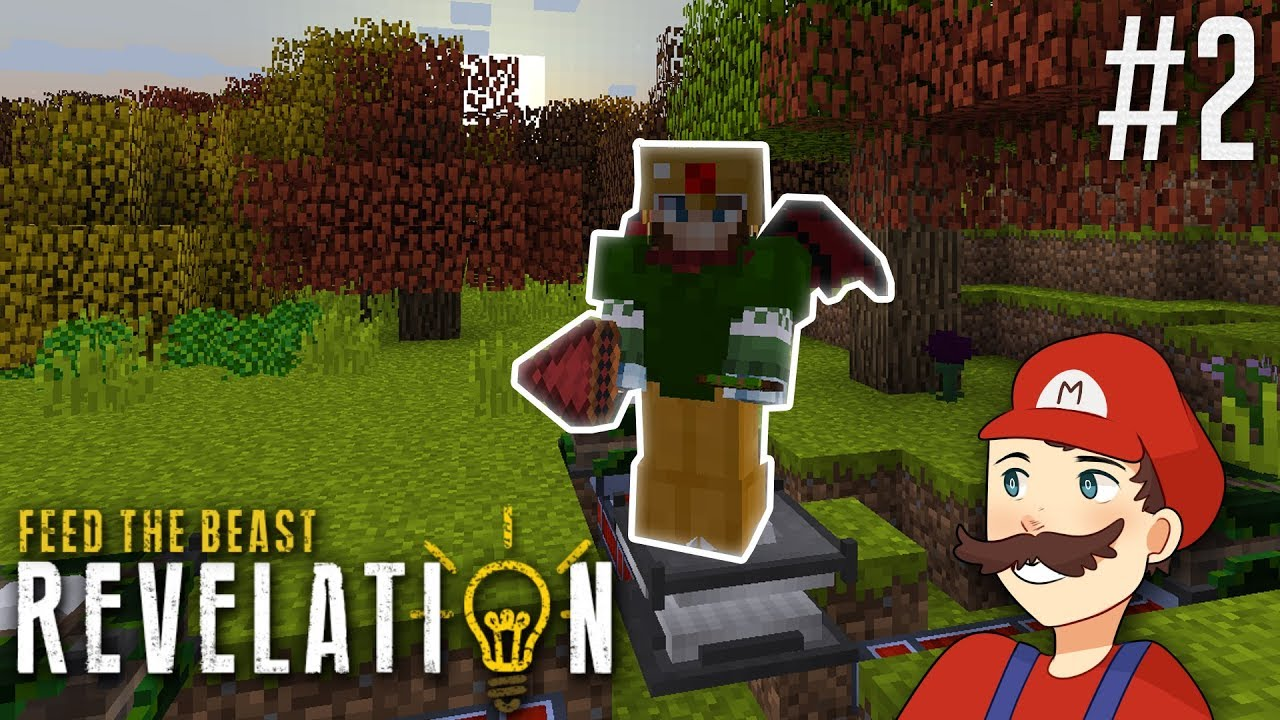 Minecraft FTB Revelation SMP #2: Drill, Angel Wings, and Flux Armor!