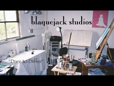 blaquejack studios, a contemporary fine art studio
