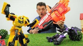 Juguetes de los Transformers - Optimus Prime. Vídeos de juguetes.