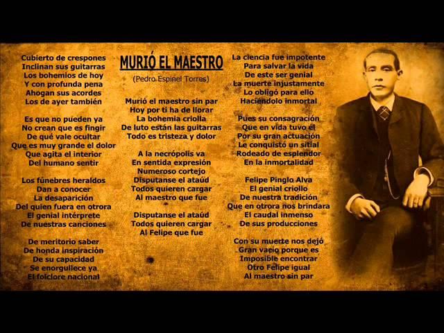 Alfredo Leturia y Julio Chavo Ve - Murió El Maestro