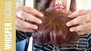 asmr head massage with hair pulling and scratching   no talking