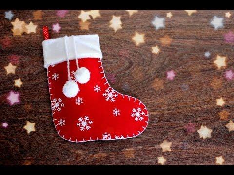 Рождественские носки как сшить