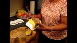 Jamaican Recipes: How to select and peel yams video
