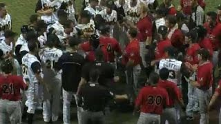 Tempers flare as benches clear