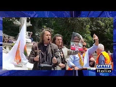2 Giugno, il Generale Pappalardo e i gilet arancioni a Roma | Notizie Oggi Lineasera
