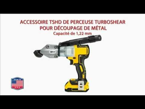 Cisaille pour d coupe du m tal adaptable sur perceuse visseuse capacit 1 22mm youtube - Perceuse electrique portative ...