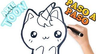 Download Como Dibujar Gato Unicornio Kawaii Videos Dcyoutube
