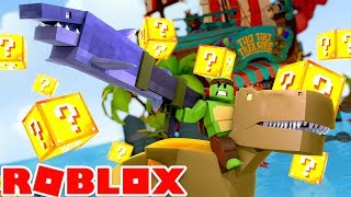 Roblox - DINOSAURS, DRAGONS, NINJAS AND LUCKY BLOCKS? WHAT COULD GO WRONG!?