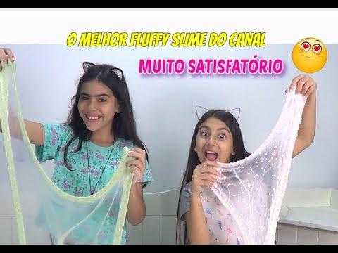 O MELHOR FLUFFY SLIME DO CANAL COM A RAINHA DOS SLIMES NINI (ft. DICAS DA NINI ) - Julia Moraes