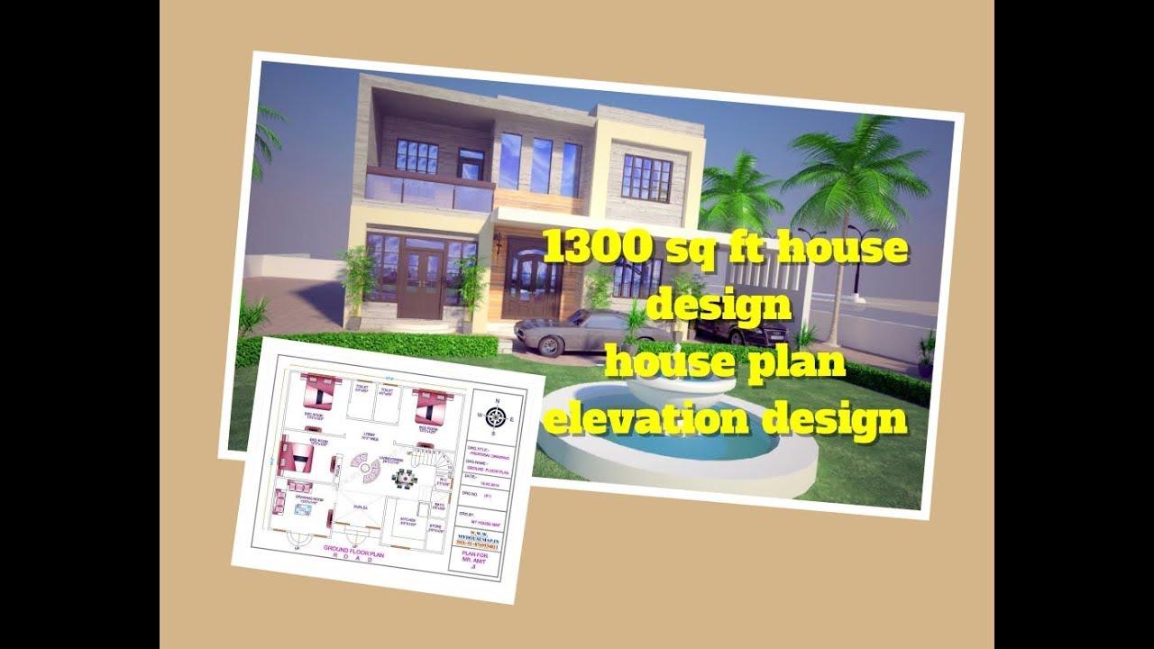 38 34 house design 1300 sq ft house plan