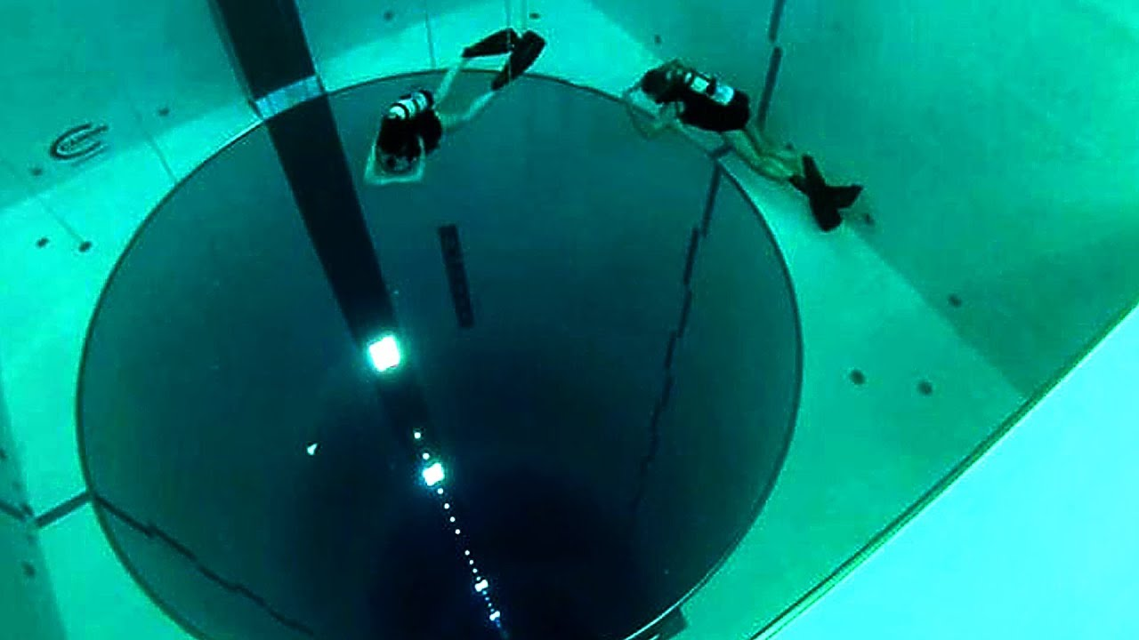 The World S Deepest Swimming Pool Youtube