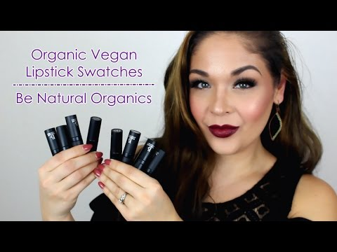 Vegan Organic Lipstick Swatches | Be Natural Organics