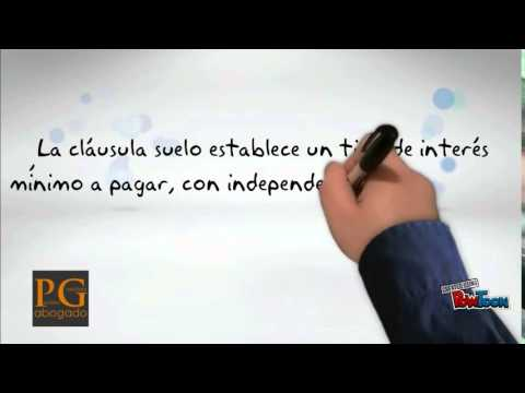 Cl usula suelo youtube for Intereses clausula suelo