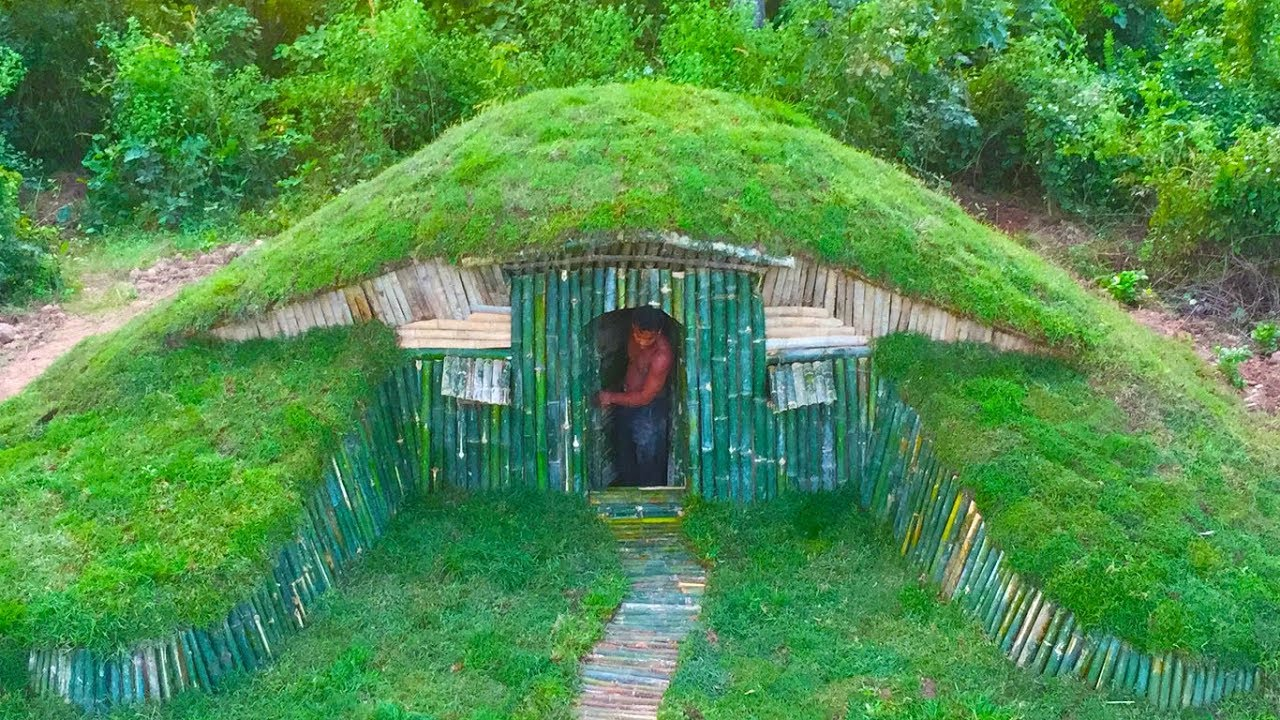 unbelievable  a small hill become beautiful underground house build by a men