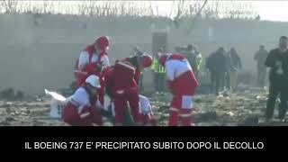 Aereo ucraino precipita in Iran, 177 morti: le squadre di soccorso al lavoro