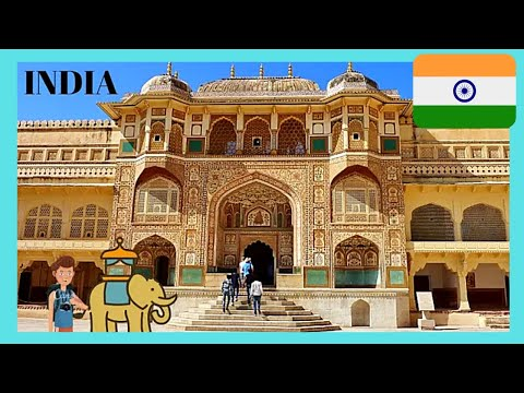 INDIA, the 16th century incredible AMER FORT in JAIPUR, a fascinating walk and tour