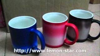 Heat magic on off  mug wholesale custom made speical gift