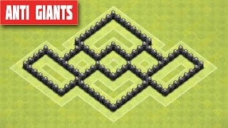 CLASH OF CLANS - TH5 FARMING BASE BEST TOWN HALL 5 FARMING BASE (ANTI GIANTS) 2015
