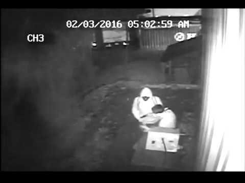 Security camera shots of Hitman Firearms burglary in Hooksett, New Hampshire