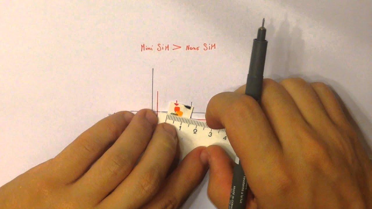 découper carte sim en magasin ✄ Découper carte SIM en NANO Sim   tutoriel   iPhone 5   5S   6