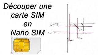 Transformez une carte sim ou une micro sim en une nano sim tutoriel complet pour iphone 5 - Couper une micro sim en nano sim ...