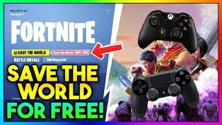 Wie man Fortnite SAVE THE WORLD KOSTENLOS! (PS4, XBOX ONE , NINTENDO SWITCH , PC)