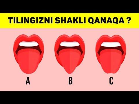 PSIXOLOGIK TEST: TILINGIZNING SHAKLI QANDAY ?