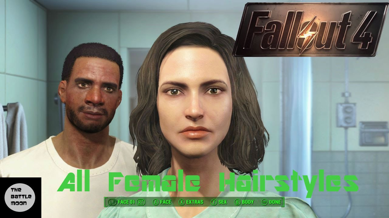 All Female Hairstyles Fallout 4 Character Creation Youtube